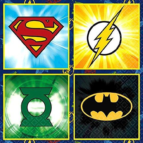 Justice League Beverage Napkins, Party Favor -