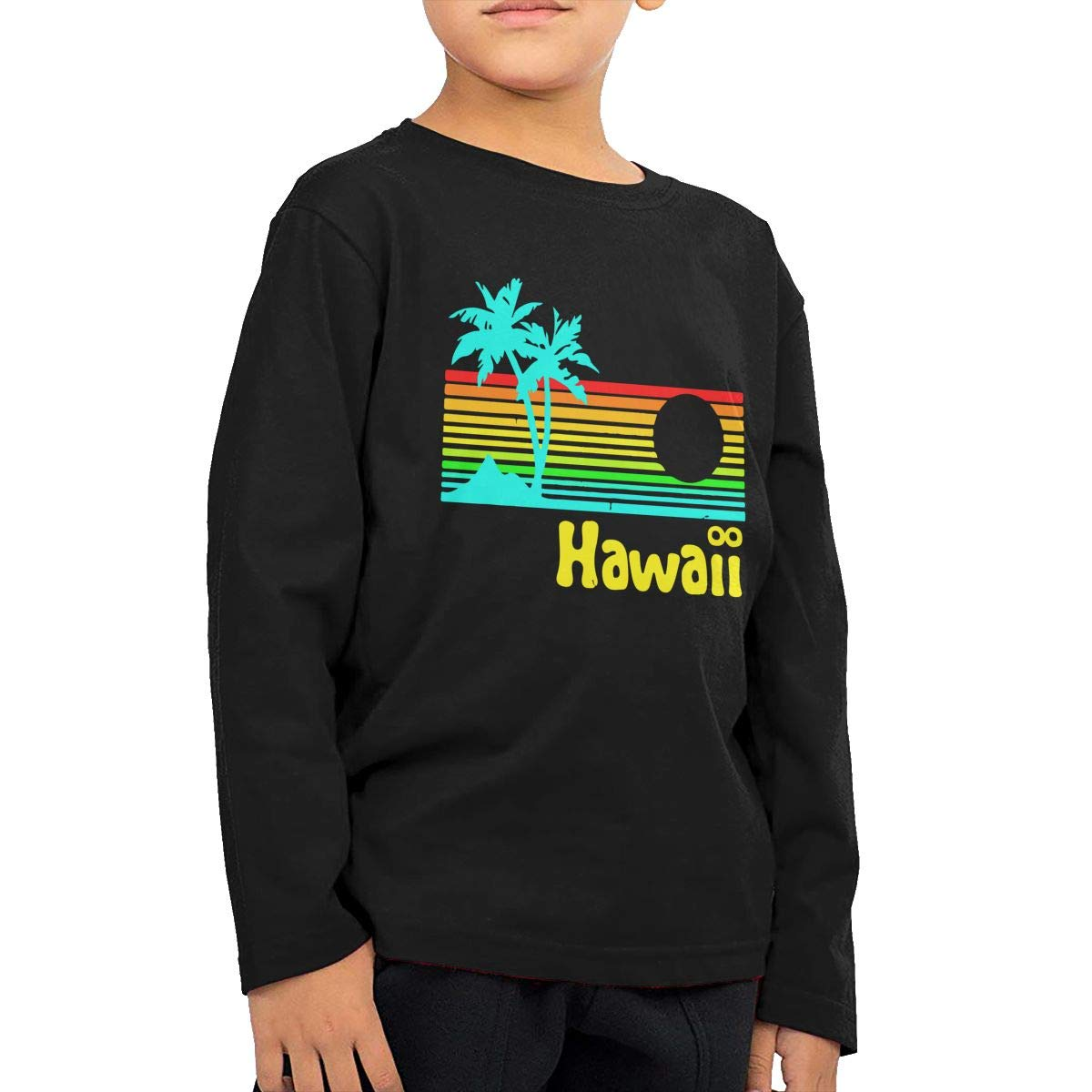 Baby Boys Childrens Retro Vintage Hawaii Printed Long Sleeve 100/% Cotton Infants Tops