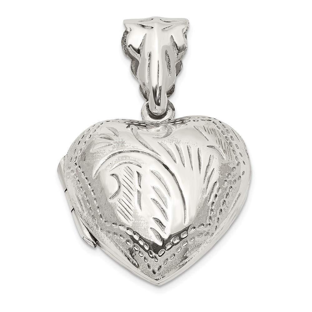 Sterling Silver Locket Jewelry Pendants /& Charms Opens 20.5 mm 22 mm Heart Locket