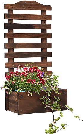Siempre se adhieren al éxito. Estante de la Planta de la Flor de Madera de la Pared, Colgando decoración de la Cesta Estante de exhibición Salón Balcón Jardín Suculentas Estante (Color :