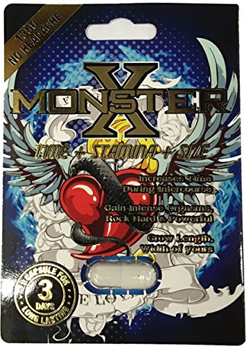 monster x male sexual performance enhancement pill 3 pills pack