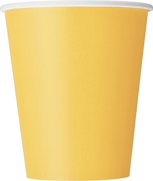 Unique Party Lot de 8 gobelets de No/ël en carton de 255 ml avec houx et poinsettia
