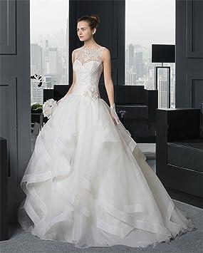 LUCKY-U Vestido de novia Vestido de novia Cordón de las mujeres Vestido de novia