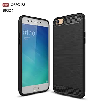 check out 4b307 f5f6c Oppo F3 Case, CaseFirst Brushed Textured Carbon Fibre: Amazon.co.uk ...