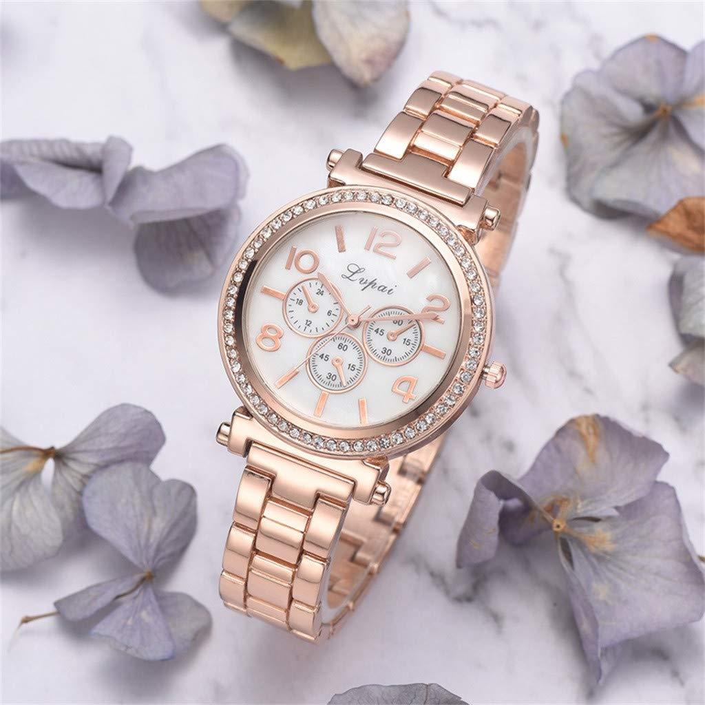 Reloj para Mujer,BBestseller Reloj de Cuarzo de Moda Casual de Las Mujeres Relojes de Pulsera Vestir Sencillos para niñas (Free Szie, Oro): Amazon.es: Ropa ...