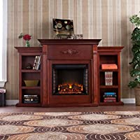 Tennyson Electric Fireplace w/ Bookcases...