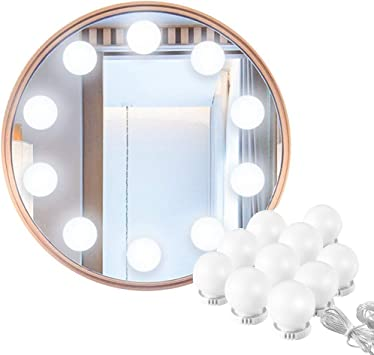 Imagen deHollywood Make-up Vanity Mirror Light, 60 Leds 9.8Ft Baño Vanity Light Kit para DIY Cosmético Make Up Mirror           [Clase de eficiencia energética A]