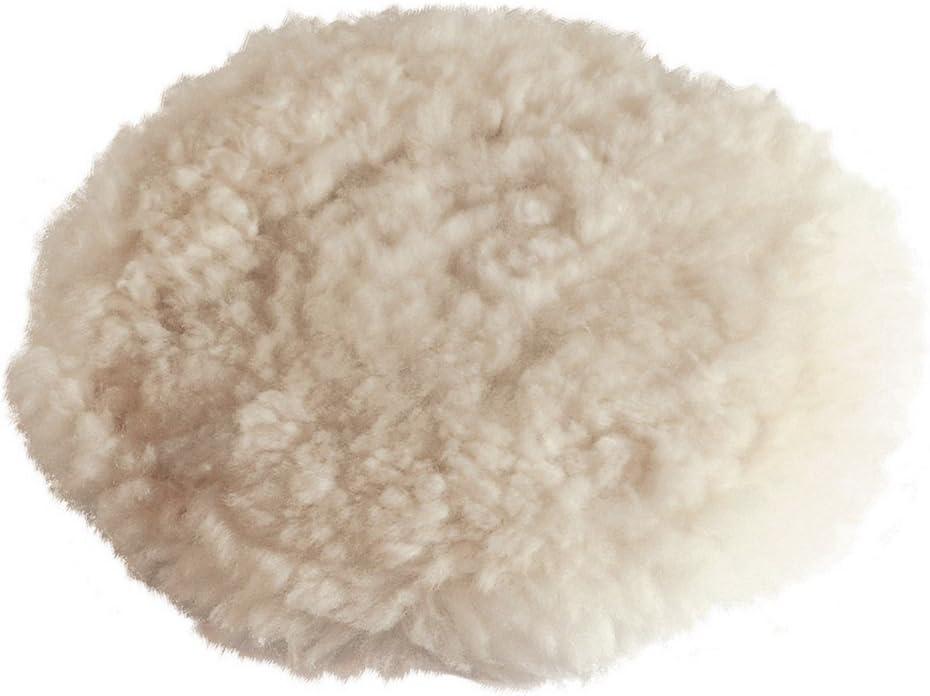 Polierhaube aus Lammwolle mit Kletthaftung 180 mm Hochwertig Klettschleifteller