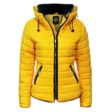 e1a6e7407 Malaika® Ladies Quilted Padded Puffer Bubble Fur Collar Warm Thick Womens  Jacket Coat - Available in Plus Sizes (Small to XXXXL) UK 8-24
