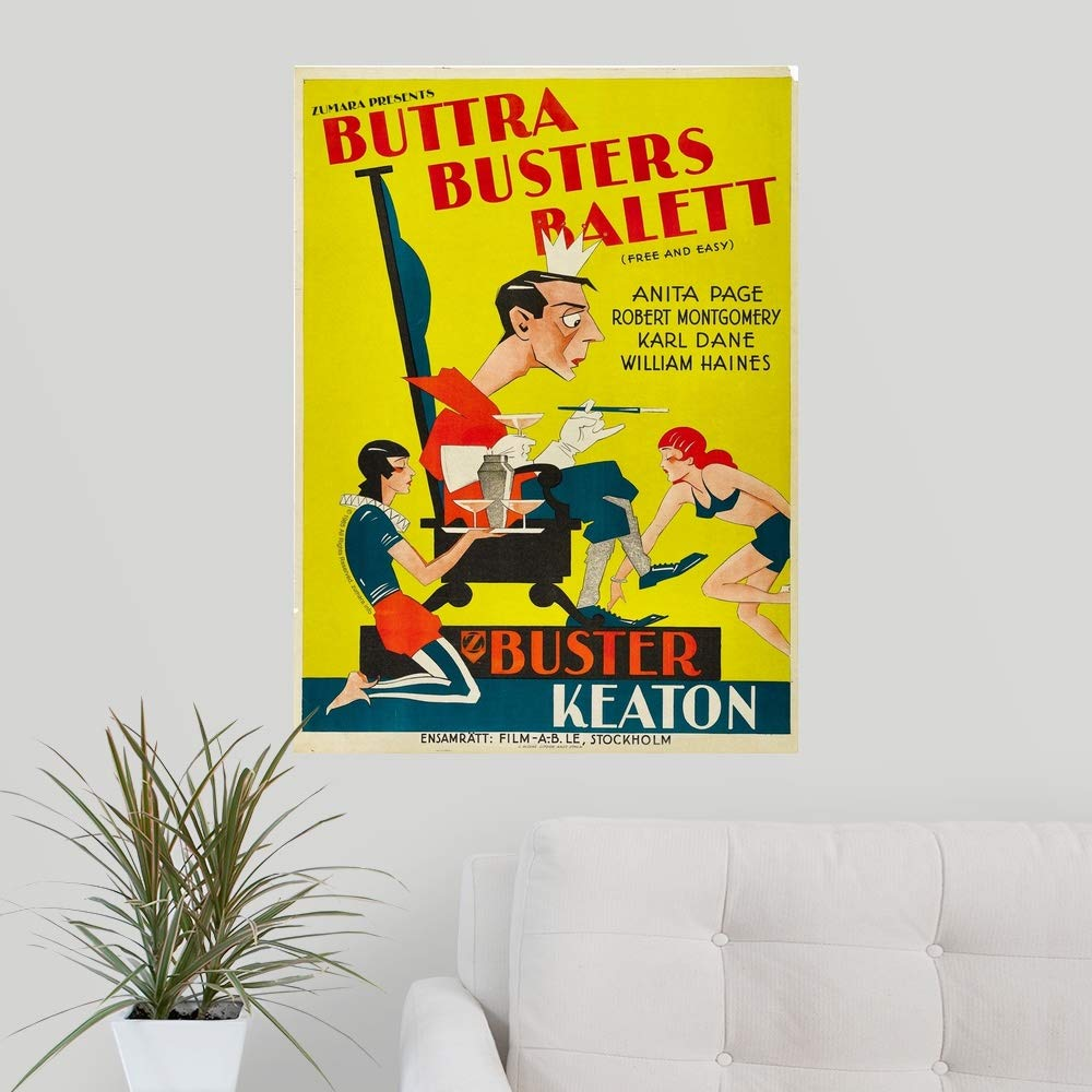 Amazon.com: CANVAS ON DEMAND Buster Keaton Free and Easy ...