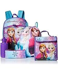 Disney Girls Frozen 5 Pc Set Backpack, Purple