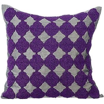 Amazon.com: Diseñador Oro decorativos Pillow Cover, Metálico ...