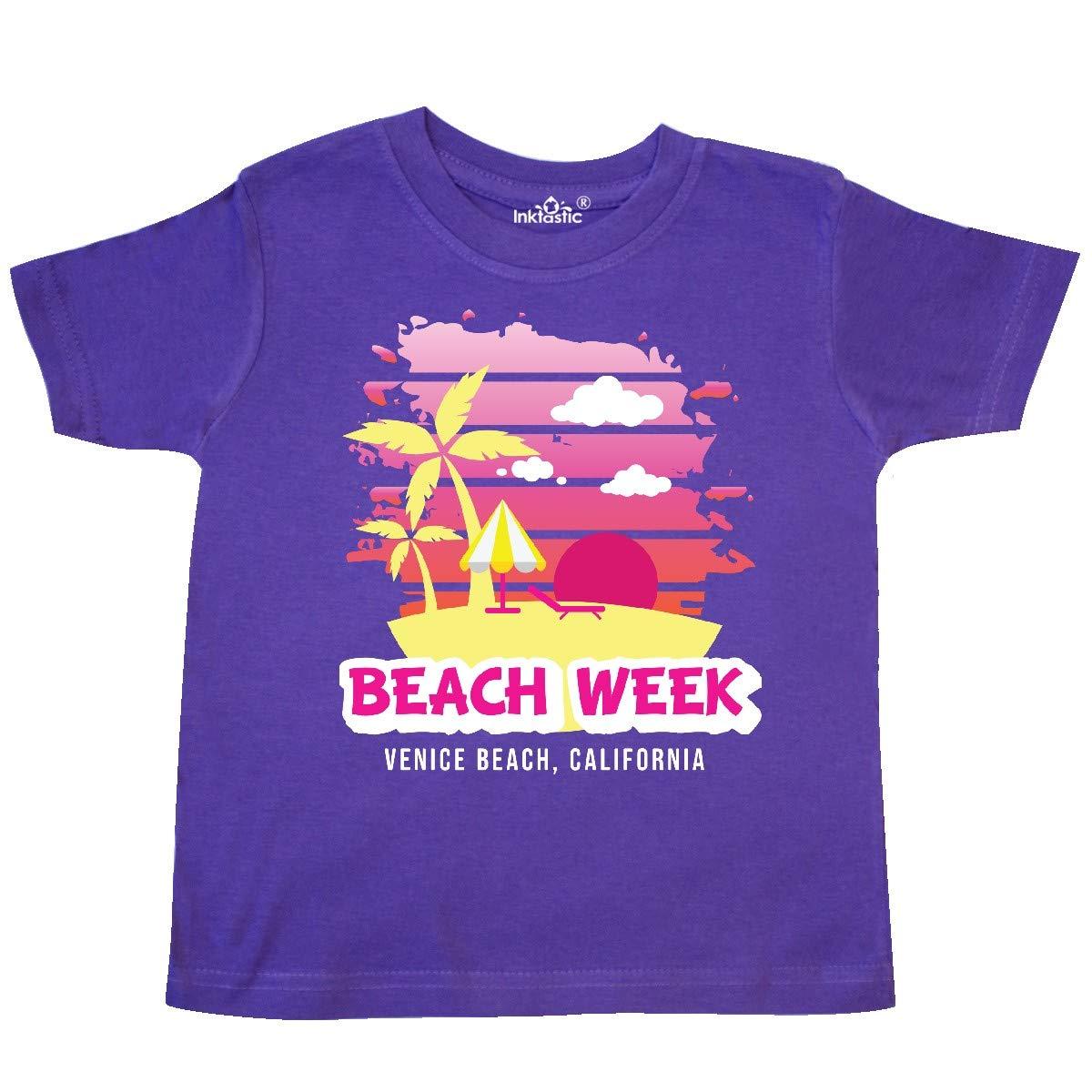 inktastic Beach Week Venice Beach California with Palm Trees Toddler T-Shirt