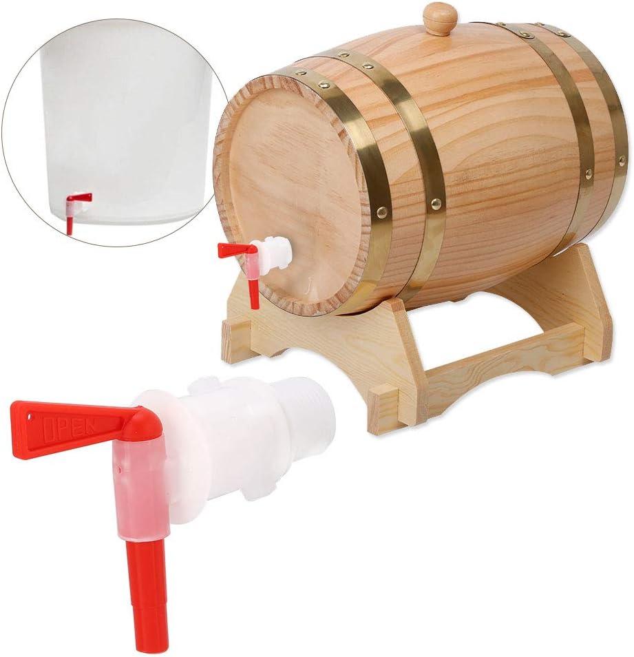 Jeffergarden Tap Faucet Food Grade Red Plastic Beer Brew Bucket Bottling Spigot for Beer Brewing Home Brew