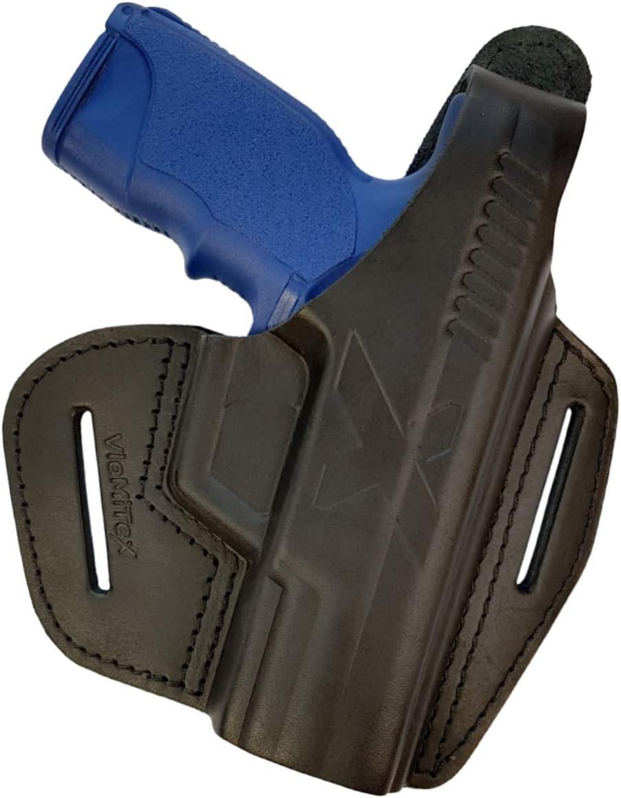 VlaMiTex B17 Funda de Pistola de Cuero, para el cinturón, para Pistolas Steyr M-A1 y S-A1, Negro