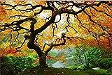 "STARTONIGHT Wall Art Canvas Maple Tree, Nature USA Framed Wall Art 24"" x 36"""