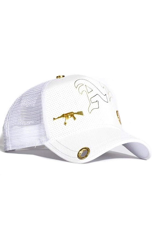 e29e879c6 Amazon.com: Red Monkey AK Stamp 2019 White Fashion Trucker Hat Cap ...