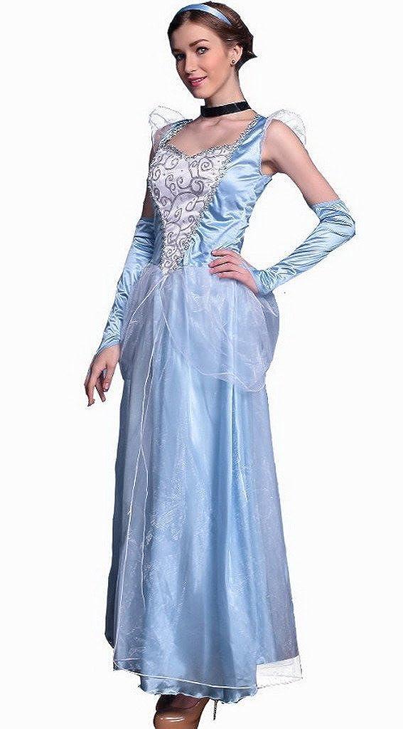 Smile YKK Halloween Princess Costumes Blue Animation Dance Party Fancy Dress: Amazon.co.uk: Clothing