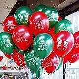 Funi 100pcs 10'' Printed Latex Balloons Christmas Balloons Pure Pearl Helium Christmas Decorations Mixed Assorted Balloons