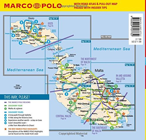 Malta and Gozo Marco Polo Pocket Travel Guide 2018 with pull out