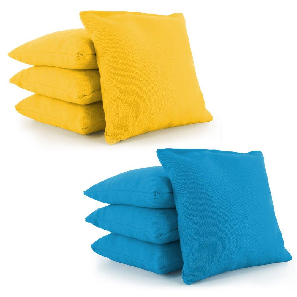 Tailor Spot Cornhole Bean Bags (Set of 8) Standard ACA/ACO Regulation Size Corn Filled 25+ Colors (Yellow, Turquoise)