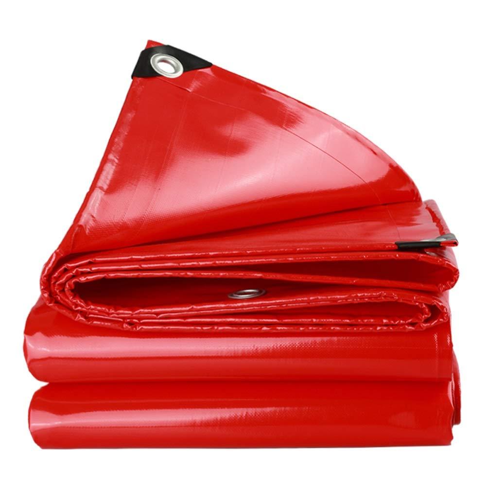 XiaoXIAO BÂche imperméable lourde toile de prougeection solaire pluie Oxford toile de pluie extérieure toile de pluie toile de bÂche en toile de bÂche bÂche, rouge, 16 tailles BÂche ( Taille   3mX3m )  3mX3m