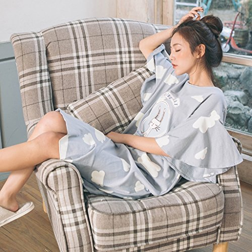 dimensioni dolci femminile ALUK camicia da pajamas notte e arruffato As Colore allentato shown Shown Nuvole As giapponesi Women Size pigiama carino fresche One 5U8wX5q
