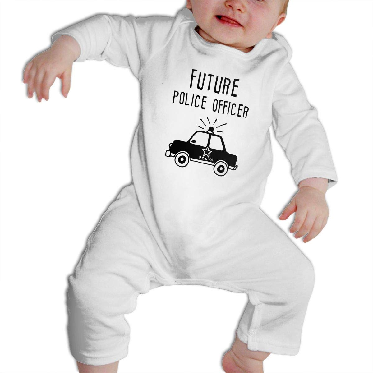 Cami Future Police Officer Baby Boys Girls Long Sleeve Onesies Infant Bodysuit Baby For 6-24months