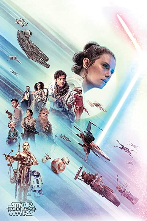 Amazon Com Star Wars Episode Ix The Rise Of Skywalker Movie Poster Rey Friends Size 24 X 36 Inches Posters Prints