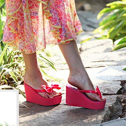 M Flip Beach Delle Havaianas Donne 11 Del Con Estate Red Tacco Flops Cm Altezza qxg6gwHOC