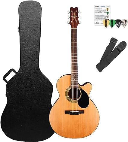 Jazmín por Takamine s34 C guitarra acústica con funda dura, correa ...