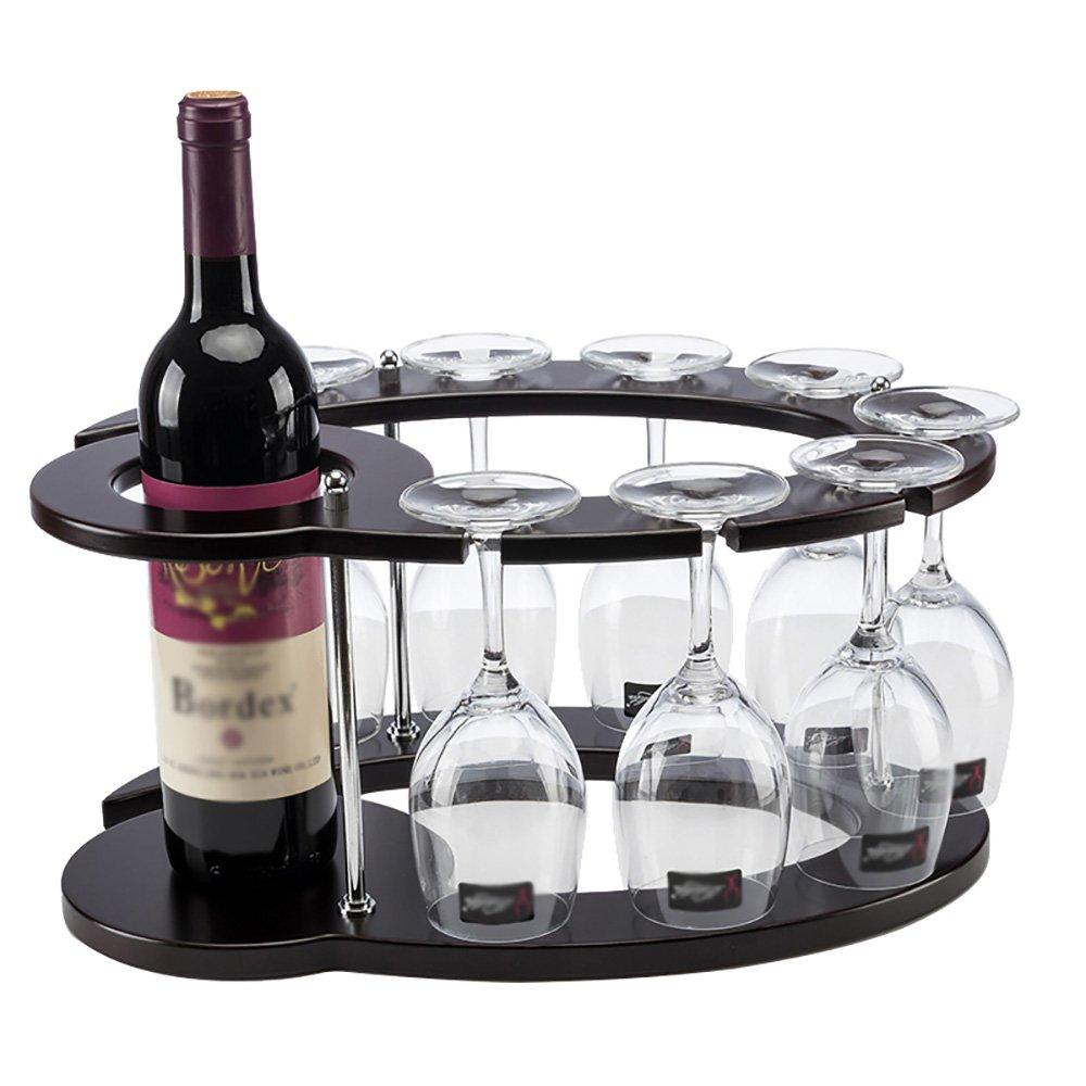 ヨーロッパ木製ワインラックガラスホルダー家庭用品 B07DWSYZ1D
