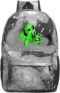 Star School Bag Geometry-Dash Fashion Satchel Galaxy Backpack for Student Kids Boys Girls