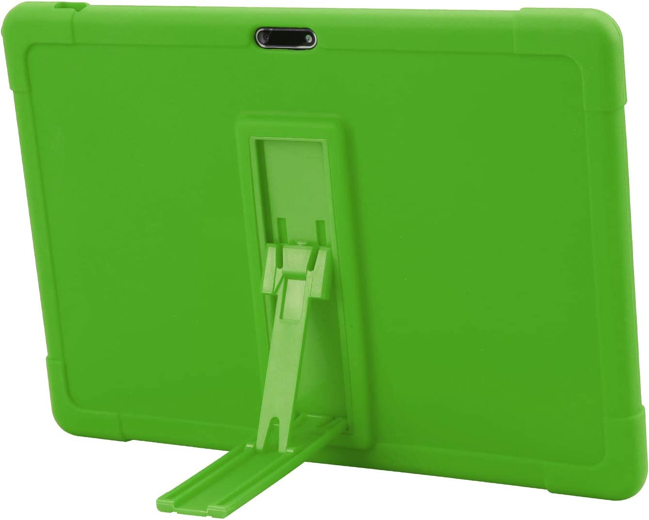 qunyiCO Y10 Case, qunyiCO Tablet 10 inch Case [Kickstand] [Case for Kids] Shockproof Silicone Case Tablet Protective Bracket Stand Cover Case for Vucatimes N10 Tablet (Green)
