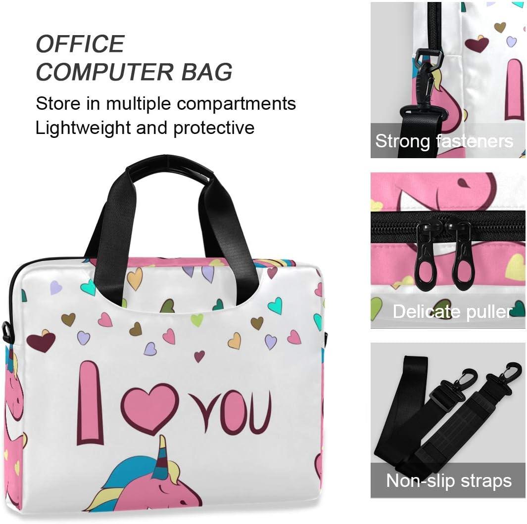 16 Inch Slim Laptop Backpack Laptop Case I Love You and Unicorn Laptop Briefcase Bag Laptop Bag