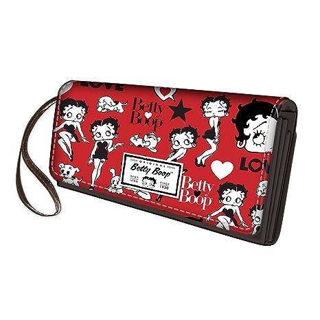 92a4c08ce Betty Boop Rouge - Cartera de Mujer con Botón metálico y Cremallera -  Color: Rojo