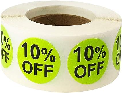 500 Etichette su Rotolo 25 mm 1 Pollice Rotondo Rosa 20/% Off Cerchio Adesivi