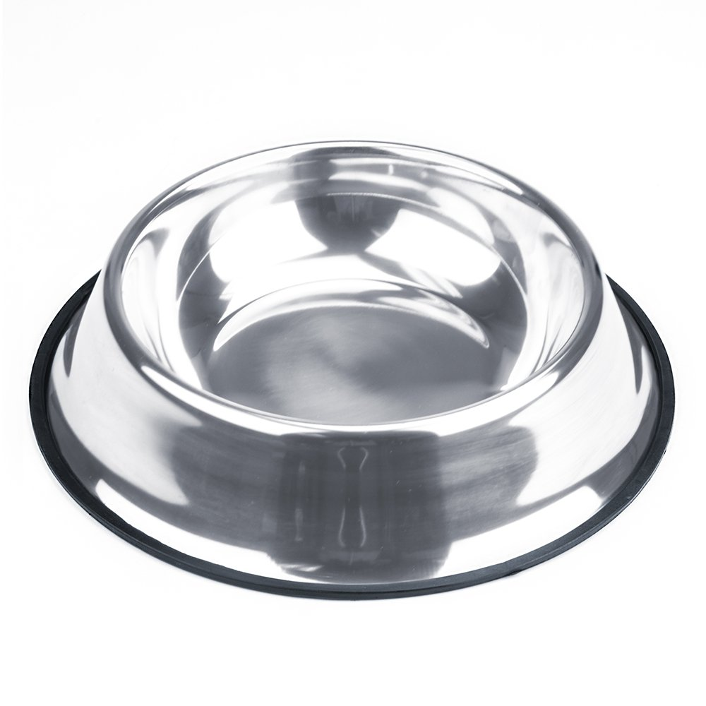 Weebo Pets Stainless Steel No-Tip Food Bowls - Choose Your Size, 4-ounce to 72-ounce (40oz. Kahuna)