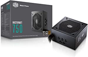 MasterWatt 750 Watt Semifanless Modular Power Supply, 80 PLUS Bronze Certified Power Supply for Computers