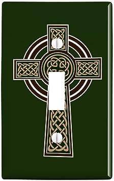 Amazon Com Graphics More Celtic Christian Cross Irish Ireland Plastic Wall Decor Toggle Light Switch Plate Cover Furniture Decor