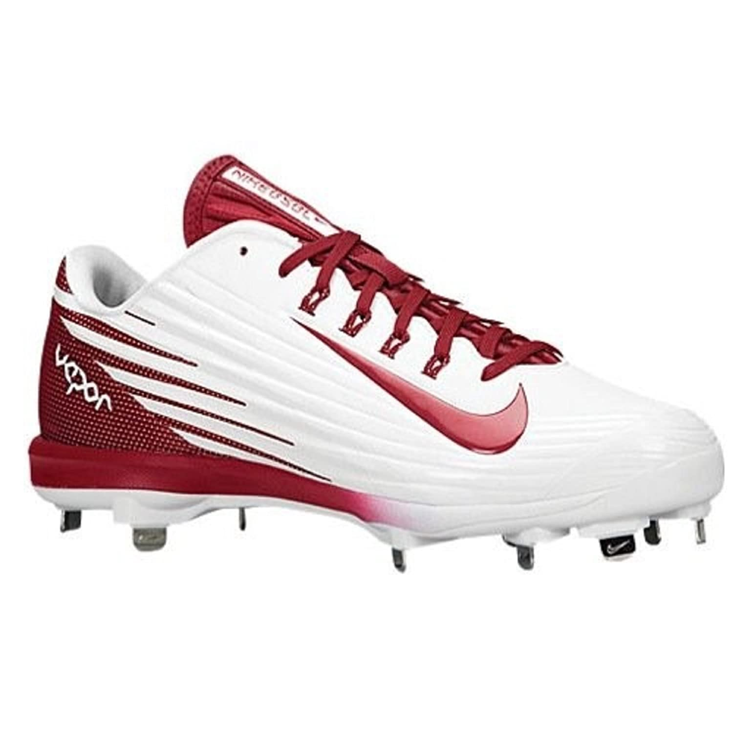 detailed look b9938 ff227 Nike Mens Lunar Vapor Pro Maroon White Baseball Cleats 683895 160 size 13.5  Amazon.ca ...