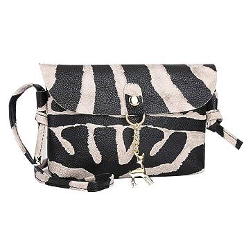 8da922760e41 Barlingrock Womens Leather Crossbody Bag Leopard Print Shoulder Bags ...