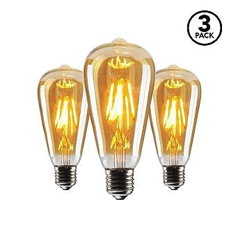 SEEDIQ® LED E27 Bombilla de Filamento Edison4W,LED Bombilla de Decorativa Blanca Cálida 2700K