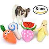 5 Pack Squeaky dog toys, Small Dogs and Medium Dogs from,Squeaky Toy, Plush Toys, Rope Pet Toys, Dog Chew Toys