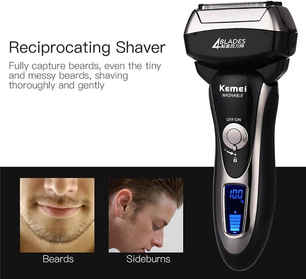Kemei afeitadora eléctrica de carga rápida todo el cuerpo lavable ...