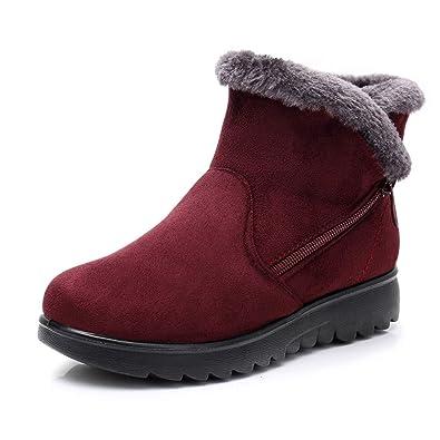 JYJM 2018 Schneestiefel Warm Gefütterte Winterschuhe Outdoor Winterstiefel Stiefel für Damen Herren Shop günstig kaufen Damen Plus Stiefel