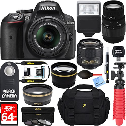 Nikon D5300 DX-Format Digital SLR Camera + AF-S 18-55mm VR