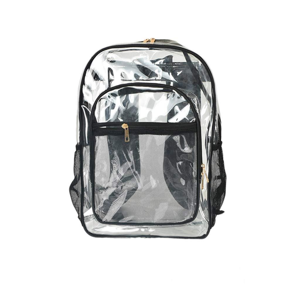 iFANS クリアバックパック レジャーバッグ 高耐久 透明ブックバッグ 通学やスポーツイベントに  透明 B07H948WK1