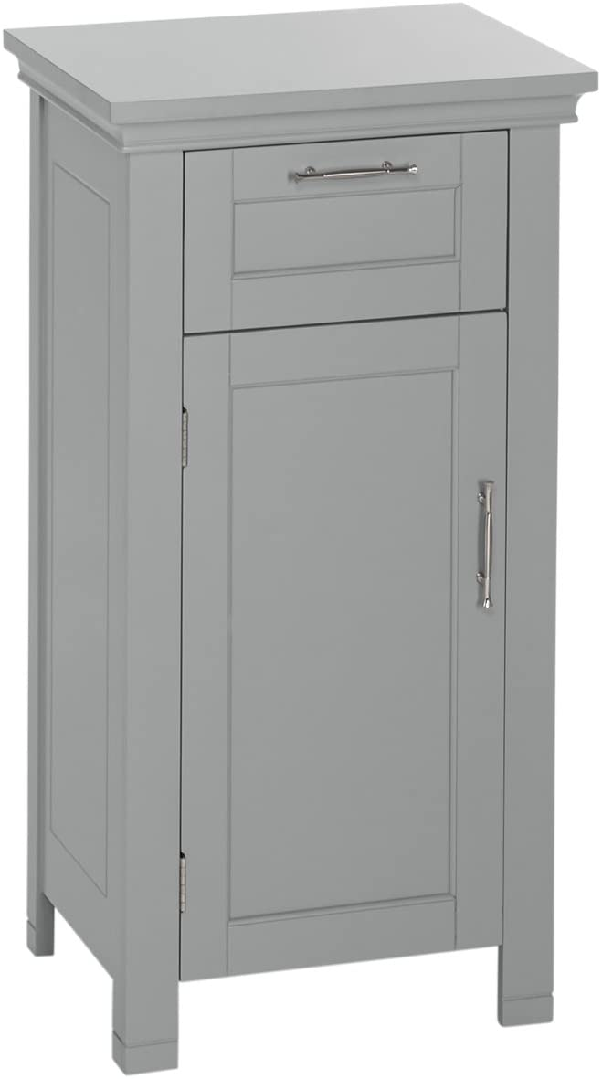 RiverRidge Somerset Collection Single Door Floor Cabinet, Gray