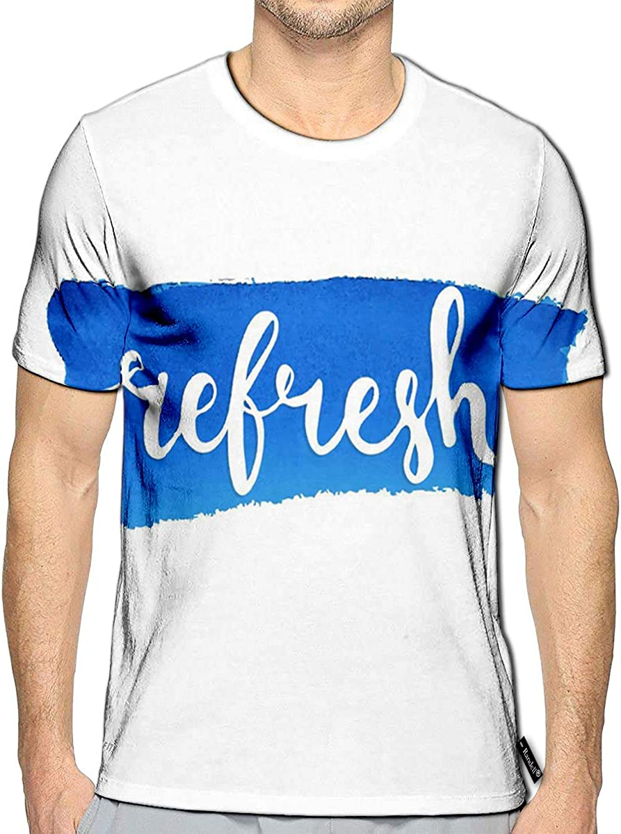 3D Printed T-Shirts Refresh Short Sleeve Tops Tees